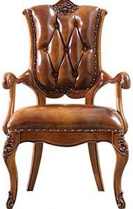 Bureau Chaise Chaise Bureau européen Chaise informatique Boudoir Chambre Salon avec fauteuils (Couleur: Brun, Taille: 63x58x108cm) XIUYU (Color : Brown)