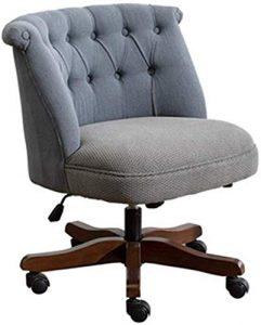Chaise de bureau Accueil Chaise de bureau d'étude Président Patron Lift Vintage Wooden Chair (Couleur: Bleu, Taille: 68x68x83cm) XIUYU (Color : Blue)