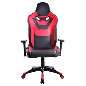 Chaise de Jeu réglable Chaise de Bureau à Dossier Haut, Chaise pivotante Dossier Chaise Ancre Manger Poulet Internet Cafe Noir Blanc-BlackRed