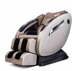 CSPFAIZA Fauteuil de Massage électrique avec Massage par La Chaleur et Musique Bluetooth, 61.02 x 61.02 x 43.3 Pouces – Charge 150kg – Marron/Crème,Brown
