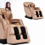 CSPFAIZA Fauteuil de Massage Réglable, Appareil de Massage Shiatsu avec Massage par La Chaleur et Fonction Bluetooth, Gravité Zéro, La Crème