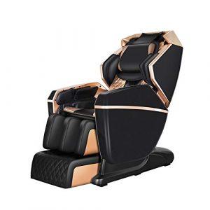 Fauteuil de massage Zero Gravity, Massage pneumatique complet du corps Massage au rouleau à 3 rangées de rouleaux allant du cou aux hanches Fonction de stretching pour yoga avec chauffage Bluetooth