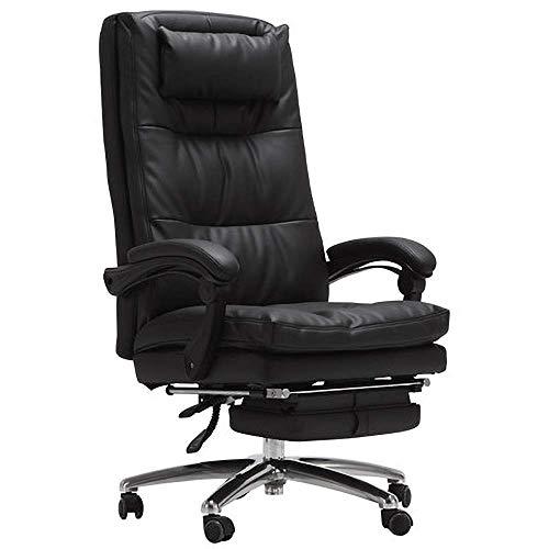 FXPCQC Gaming Chair Rotation Ordinateur Accueil Dossier Inclinable en Cuir Confortable Siège Convient pour Game Break