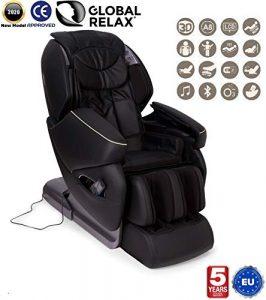 Global Relax France – NIRVANA Fauteuil de Massage (nouveau modèle 2018) – Noir – 5 ANS Garantie Prolongée