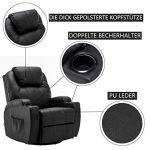 MCombo7061 Fauteuil de massage électrique, fauteuil relax inclinable, vibrant et chauffant