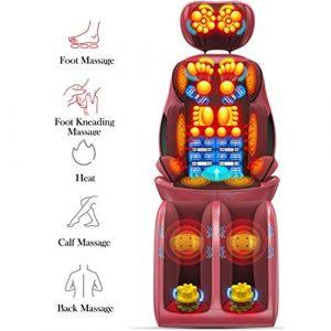 Snow Yang Tapis de Massage Electrique Tout Corps, soulage Les douleurs Musculaires – Appareil de Massage avec Vibrations – Bureau, Maison et Voiture