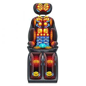 Snow Yang Tapis de Massage pour Les chaises et Les Tapis de Massage électriques Shiatsu pour Tout Le Corps Coussin de Massage Multifonctionnel pour la Taille du Cou Épaule pour Les Personnes âgées