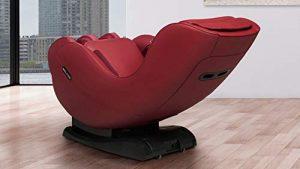 WELCON EASYRELAXX Marchepied Rouge avec Fonction chauffante, l-Shape, Programme Automatique de pétrissage