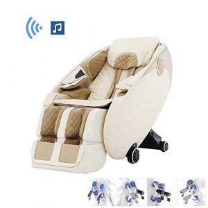 WSN Fauteuil de Massage, Fauteuil de Massage zéro gravité 3D Fauteuil de Massage Complet du Corps Shiatsu, fauteuils inclinables avec Chauffage au Toucher et Masseur à Pied