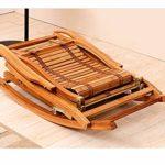 ZHNA Chaise Longue de Loisirs Bamboo Lazy Chaise Pliante Home Salon en Plein air Petit Fauteuil de Massage Confortable, Petit canapé Trois Styles 47 × 55 cm (Size : A)