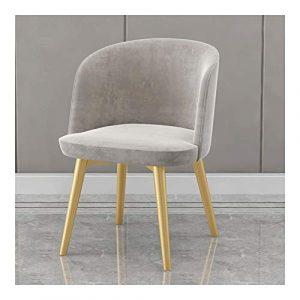 ZQY Chaise de bureau, Retro Velvet Fauteuil Salon Chambre Cuisine Fauteuil d'appoint avec chaise en métal Jambes (Color : C)