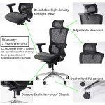 ZQY Chaise ergonomique Bureau Mesh réglable Têtière flexible Accoudoirs avec Rembourrage 360 ° Rotatif Modern Home Chaise de bureau (Color : D)