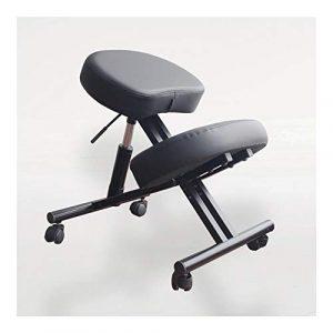ZQY Ergonomique Genoux Chaise for Bureau Tabouret réglable en angle Siège améliore votre Posture épais coussin (Color : B)