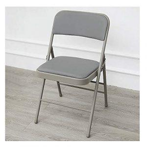 ZQY Tissu Chaise pliante Chaise de conférence Chaise pliante Ordinateur Épaississement Formation Tabouret Fauteuil puissant cadre en métal acier (Color : A)