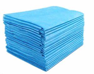 100 matelas de massage jetables pour hôpital, salle d'opération, sac de couchage imperméable jetable, drap de lit de salon de beauté – Bleu