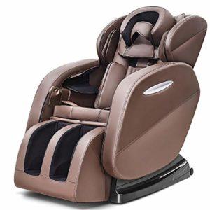 Canapé électrique SZK-Y608 – Fauteuil de Massage Intelligent – Gravité zéro – Système de Chauffage Automatique – Similicuir Facile à Nettoyer | Confortable, Détente, Fauteuil,Brown