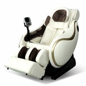 Dafa F9 Fauteuil de Massage 4D -Fauteuil Relax Professionnel shiatsu Système de gravité zéro, Fauteuil de Massage avec Massage par pétrissage de Luxe Elderly Office Automatic,White