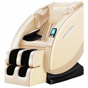 Dafa Fauteuil de Massage, Fauteuil de canapé Multifonctionnel 8D, Chauffage par Masseur de pétrissage/gravité zéro/Son Surround 3D / Peut réduire la Douleur corporelle,Gold