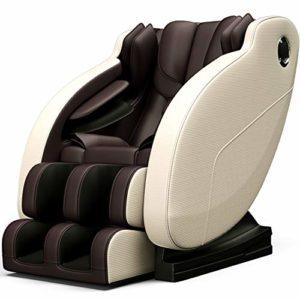 Dafa Fauteuil de Relaxation en Fauteuil de Massage Complet du Corps Intelligent -Système de Massage Automatique -Masseur de canapé Multifonctionnel de Luxe,Brown