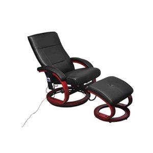 Fauteuil de massage noir et de relaxation électrique