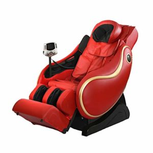 Honghong F9 Fauteuil de Massage 4D -Fauteuil Relax Professionnel shiatsu Système de gravité zéro, Fauteuil de Massage avec Massage par pétrissage de Luxe Elderly Office Automatic,Red