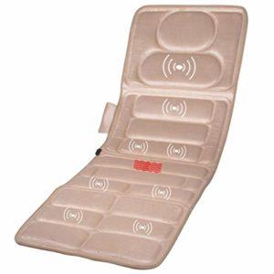 JHKJ Matelas de Massage électrique Multi-Fonction de Massage par Vibration Pad Chauffage Chauffage Couverture de Massage,Beige