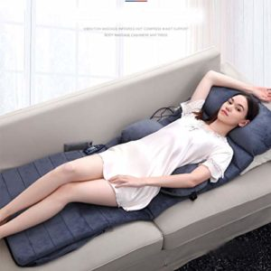 JJDD'G Matelas Massant Chauffant Coussin de Massage avec Conception Pliable, Fonction de synchronisation Automatique 15min, Force à 2 Vitesses – Massage Vibrant avec télécommande