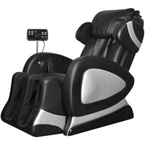 luckyfu cette Fauteuil électrique massant Écran commandes simili cuir noir.Détend les muscles et soulage la fatigue, Design ergonomico. fauteuils Jets Tabouret fitness Relax