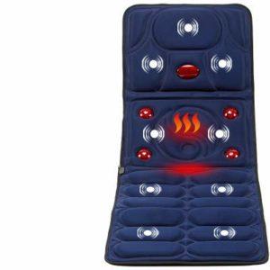 TJZY Matelas de Massage, Coussin de Massage Multi-Fonctions, Massage Personnes âgées, Tapis de Massage électrique, équipement de Massage Corps électrique,Bleu