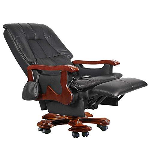 GY-C Boss Chair, Fauteuil de massage électrique en cuir Fauteuil de direction inclinable Chaise de bureau Fauteuil pivotant Moderne Minimaliste pour la maison Inclinable Chaises de direc