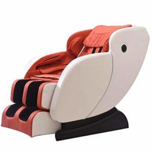 Szk-y809 Fauteuil de Massage 4D -Fauteuil Relax Professionnel shiatsu Système de gravité zéro, Fauteuil de Massage avec Massage par pétrissage de Elderly Office Automatic,Red