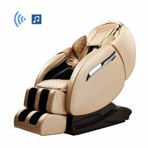 WSN Fauteuil de Massage Intelligent électrique, Fauteuil de Massage Complet sans gravité avec tapotements Extensibles pour Le Chauffage du Dos et des Pieds,Flesh