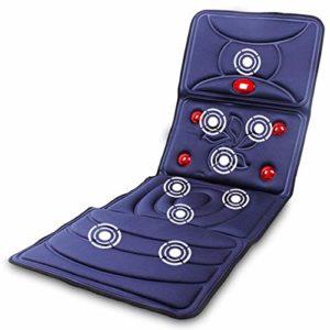 BNMMJ Matelas de massage complet corps multifonctionnel, vertèbre cervicale masseur cou taille épaule dos tapis de massage Shiatsu avec chaleur tapis de massage électrique pour coussin de chaise bleu