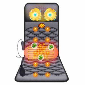 BNMMMJ Masseur Cervical, Matelas de Massage Chauffant Pliable Multifonctionnel, Matelas de Massage Complet du Corps, Coussin de Massage Vibrant Équipement de Massage de Santé