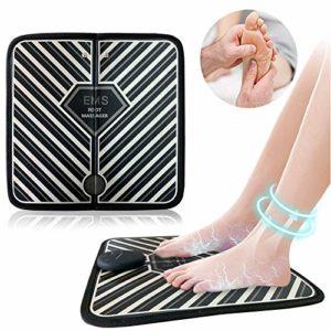 EMS Appareil de Massage électrique des Pieds,Matelas de Massage pour Stimulation Musculaire Portable, Massage des Pieds