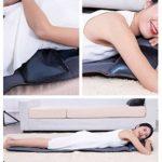 NYPB Siège Massant Coussin de Massage, avec Fonction de Chaleur et de Vibration pour Soulager la Douleur au Dos/Epaule/Hanch Massage Domicile/Bureau