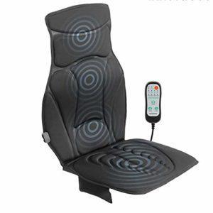 Eurroweb Siège de Massage Thermique pour Voiture et Chaise 20W Noir – Siege Chauffant et massant