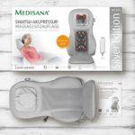 Medisana MC 825 Silver Shiatsu Housse de siège de massage avec fonction d'acupression et de massage ponctuel, massage de la nuque, fonction de réchauffement, 3 intensités, avec télécommande