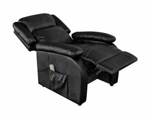 Pissente Fauteuil de Relaxation avec Repose-Pieds, Fauteuil de Massage Inclinable Électrique avec Fonction de Chauffage 220 V 12 W pour Maison Bureau Hôtel Magasin