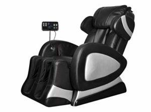 Pissente Fauteuil de Relaxation Électrique Réglable, Fauteuil de Massage Complet de Corps 220-240 V 50 Hz 75 W Angle de 110-170 Degrés pour Maison Bureau Hôtel