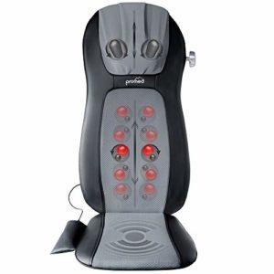 Promed De Massage Msa-900 Avec Fonction Chaleur, Matelas De Massage, Appareil De Massage Pour Le Dos Pour Massage Shiatsu Agréable, Appareil De Massage Pour La Nuque, Le Dos, Promed De Massage Noir