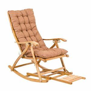 Rocking Chair Zero Gravity Chair Chaise berçante Portable, avec Coussin , Chaise Longue de Jardin Pliante réglable avec Fauteuil massant inclinable Chaise inclinable Portant 440LB