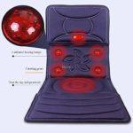 SHEHUIREN Massage du Corps Multifonctionnel Plein Matelas De Massage du Cou Vertèbre Cervicale Taille Épaule Retour Shiatsu Tapis De Massage avec Chaleur Électrique