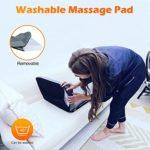 Tapis de massage en mousse à mémoire de corps avec masseur de cou Shiatsu, 8 coussins chauffants, coussin de massage lavable, 12 moteurs de vibration Coussin de matelas de massage pour le cou, le dos