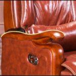 ZSAIMD Chaise de Bureau exécutif – Dossier Haut Rocking PU Chaise de Bureau inclinable en Cuir Fauteuil de Massage Informatique en Cuir Chaise pivotante Chaise Chaise Patron exécutif (Color : Noir)