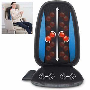 ZYFWBDZ Coussin de Massage Chauffant Shiatsu Coussin de siège de Massage pour Massage des Tissus Profonds, pour Coussin de Chaise de Massage pour soulager la Douleur au Dos
