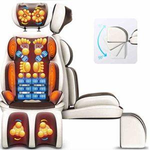 Fauteuil Massant Coussin Massant Fauteuil de Massage shiatsu, Jambe, Dos, Taille, épaules, Massage, Vibrations, for Home Office