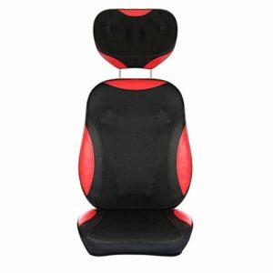 L-health Fauteuil Massant Coussin Massant Shiatsu Retour épaule Cou Massage – Coussin réglable Chaise de Massage, Les Muscles du Dos, Pétrir, Vibrations, apaisant la Chaleur
