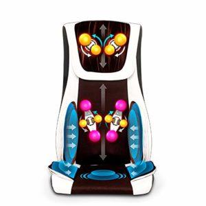 LYWIR Chaise Massage De Pétrissage Comfier Siège Massant avec Compression d'air Et Roulemen,Coussin De Siège De Massage par Vibrations pour Massage du Cou Et du Dos dans Le Bureau À Domicile