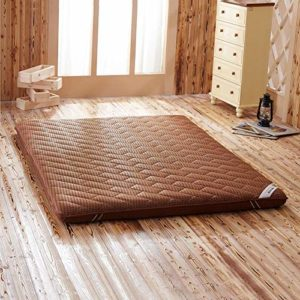 weiwei Matelas de Massage Matelas Double dortoir Simple en Fibre de Bambou,Tatami en Lin,Marron,120x200cm